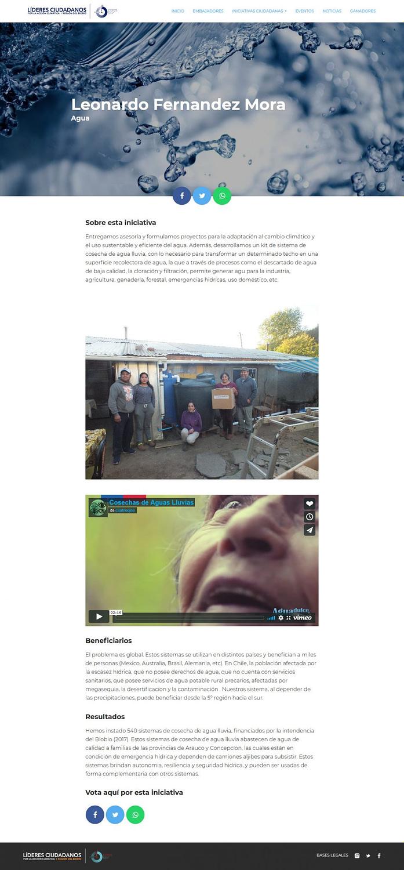 Screenshot leonardo fernandez mora Lideres Ciudadanos